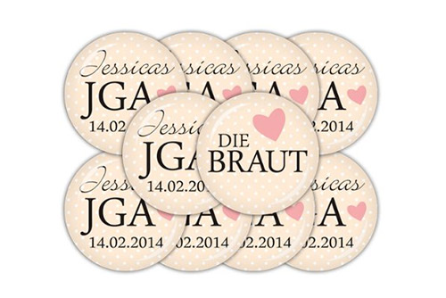 Buttons – personalisiert, apricot, 38 mm