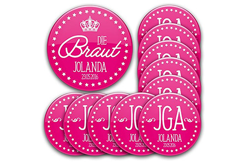 Buttons – personalisiert, pink, 76 mm